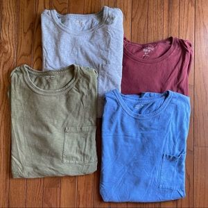 4 classic JCREW men's pocket tee shirts XXL